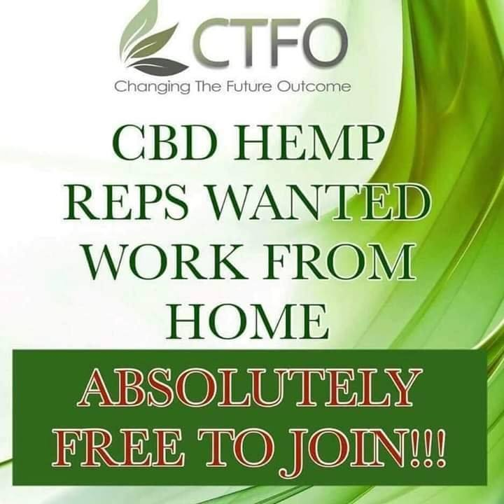 cbd hemp reps wanted