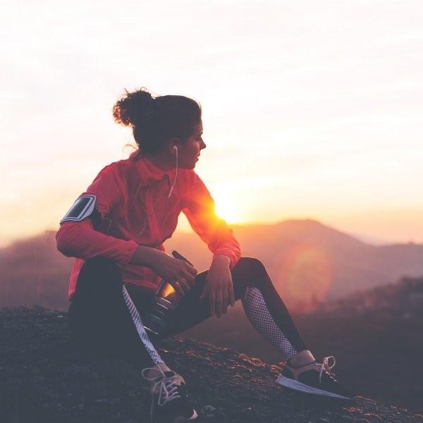 runner sitting
